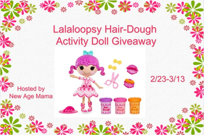 Want a cute doll for your kids? Enter to win a Lalaloopsy Hair Dough Activity Doll here!