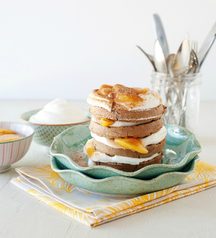 Peaches & Cream Waffle Stacks