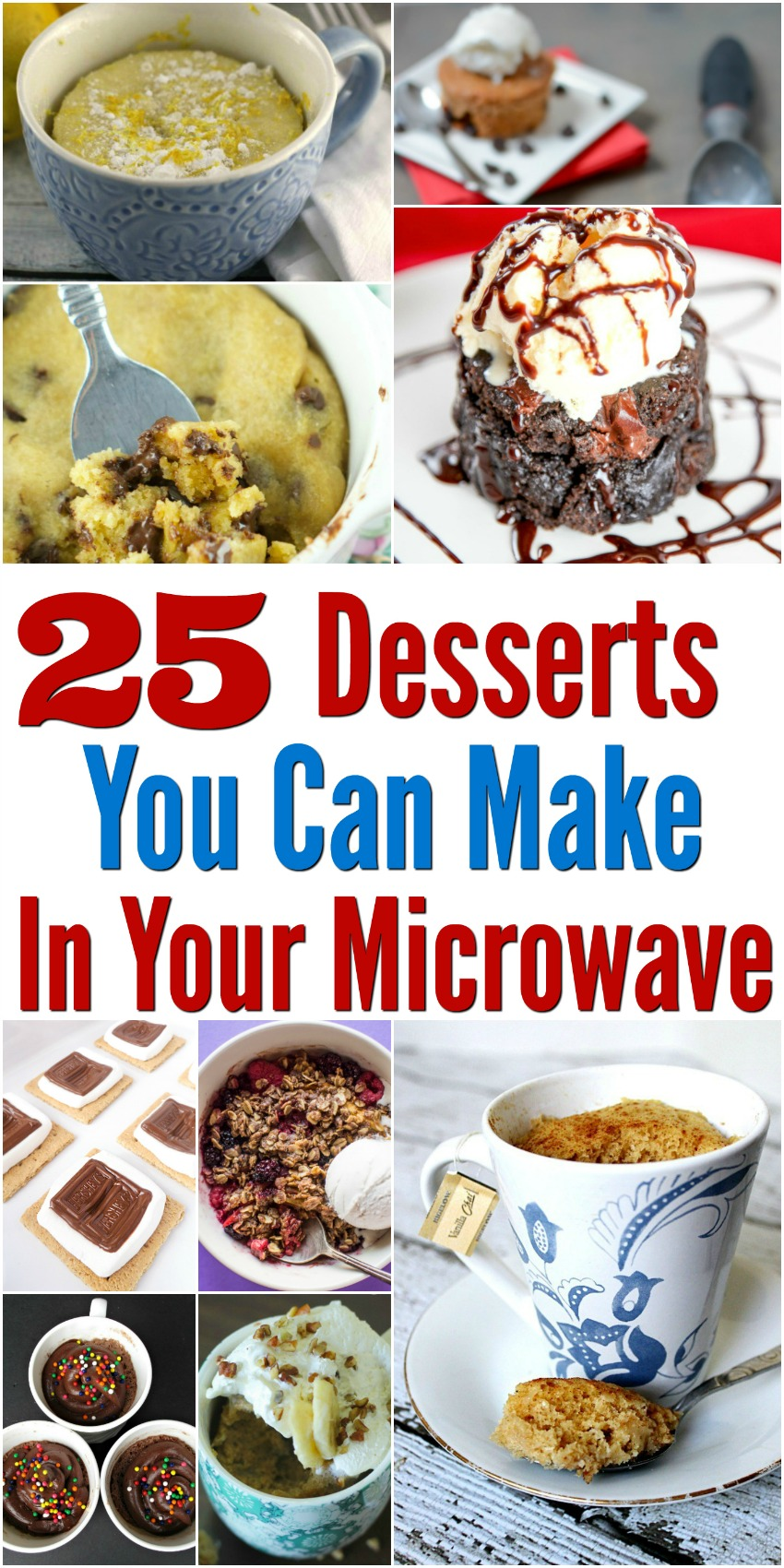 Looking for some delicious desserts you can make in under 10 minutes Check out our list of 25 Desserts You Can Make In Your Microwave here!