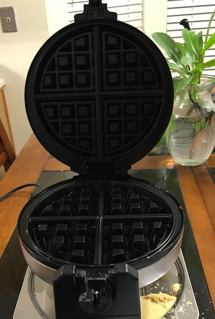 Belgian Waffle Maker After Cooking