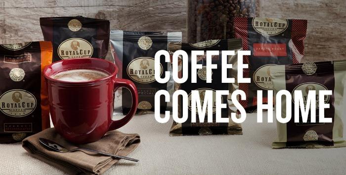 Coffee comes homes