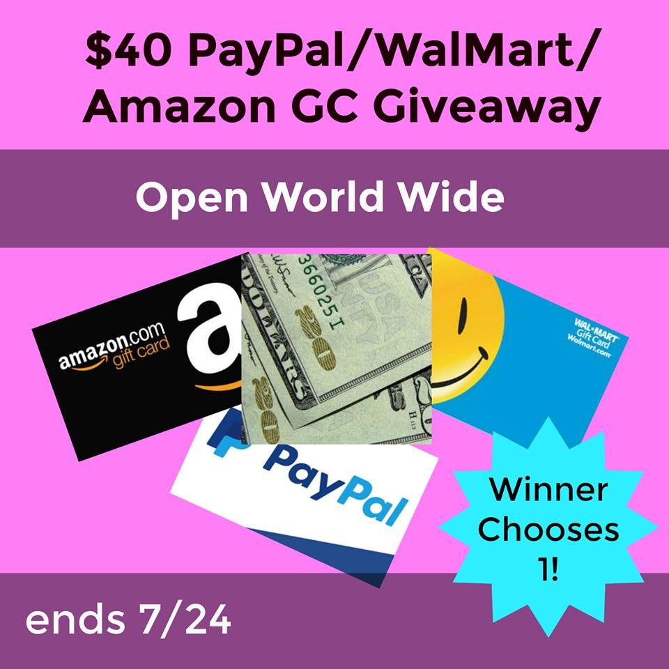 Want to win some extra cash? Enter to win a $40 Paypal, Walmart or Amazon Gift Card here!