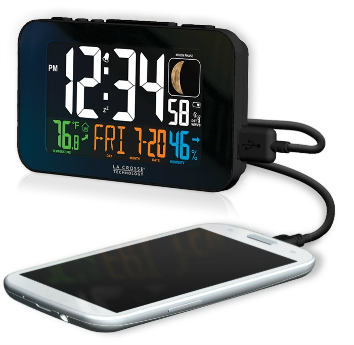 La Crosse Technology Atomic Alarm Clock with US Charging