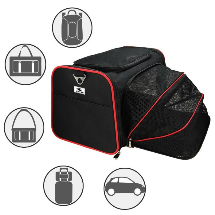 OKBUYNOW Extendable Soft-Sided Travel Pet Carrier 1