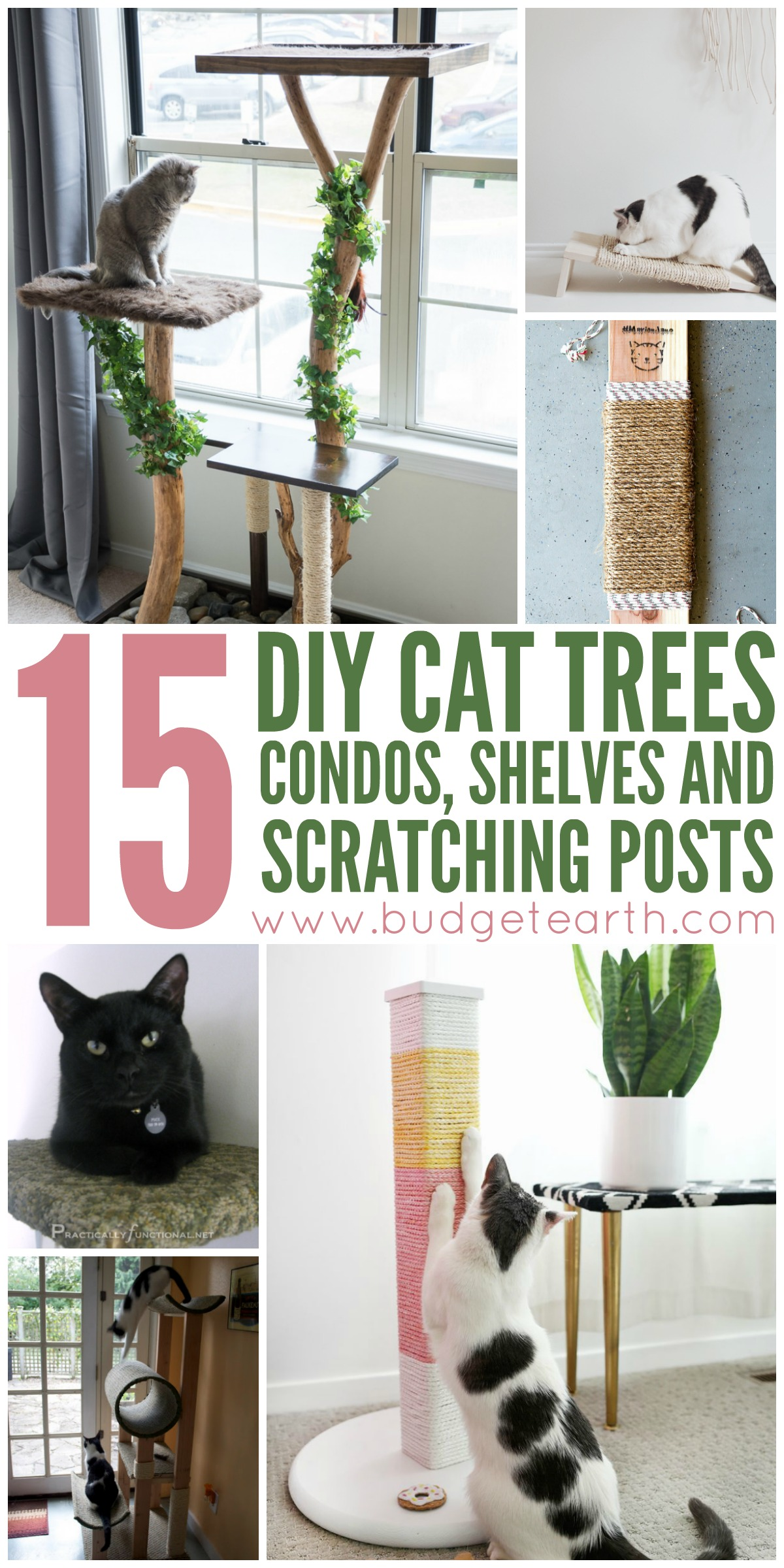 Want to spoil your cat? Check out these 15 DIY Cat Trees, Condos, and Scratching posts projects here!