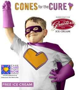Want to know how you can help against childhood cancer & get free ice cream? Learn how with Cones for a Cure here!