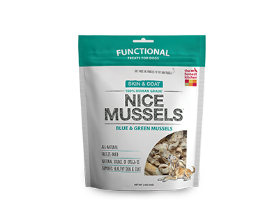 Make Dogs Smile with Honest Kitchen Nice Mussels Treats |