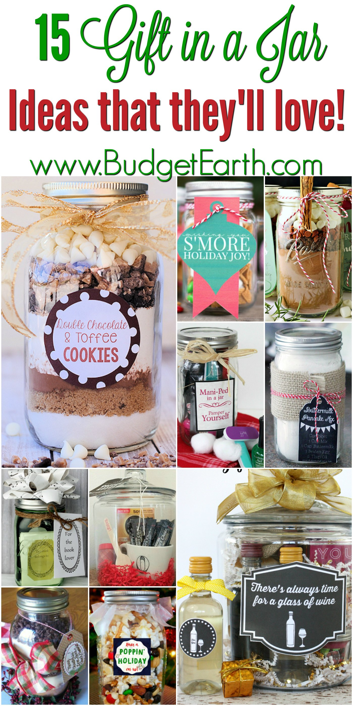 Looking for gift ideas for friends & family on your holiday list? Check out these 15 Gift in a Jar projects everyone is sure to love!