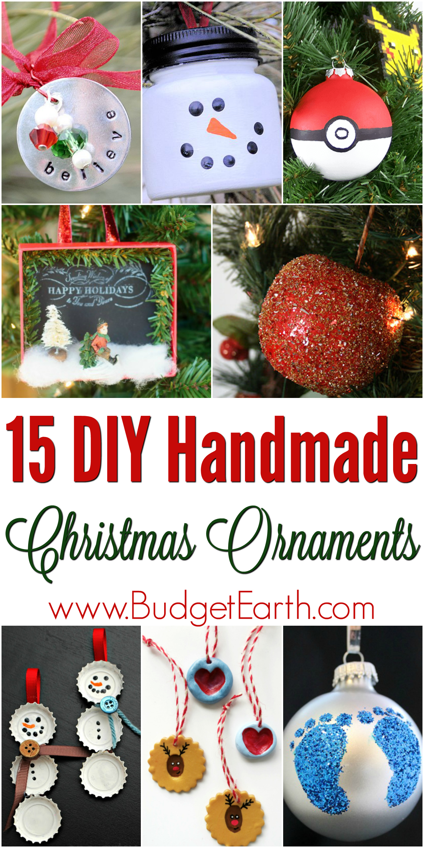 Looking for some adorable ornaments to make yourself or with your family? Check out these 15 DIY Handmade Christmas Ornaments here!