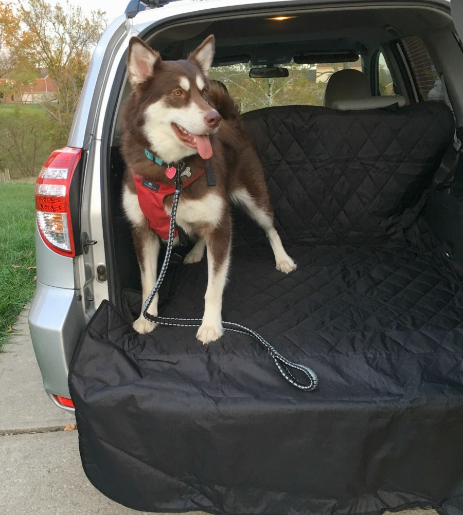Want to make traveling comfortable for your dog & safe for your vehicle? See why we love the 4Knines SUV Cargo Cover here!