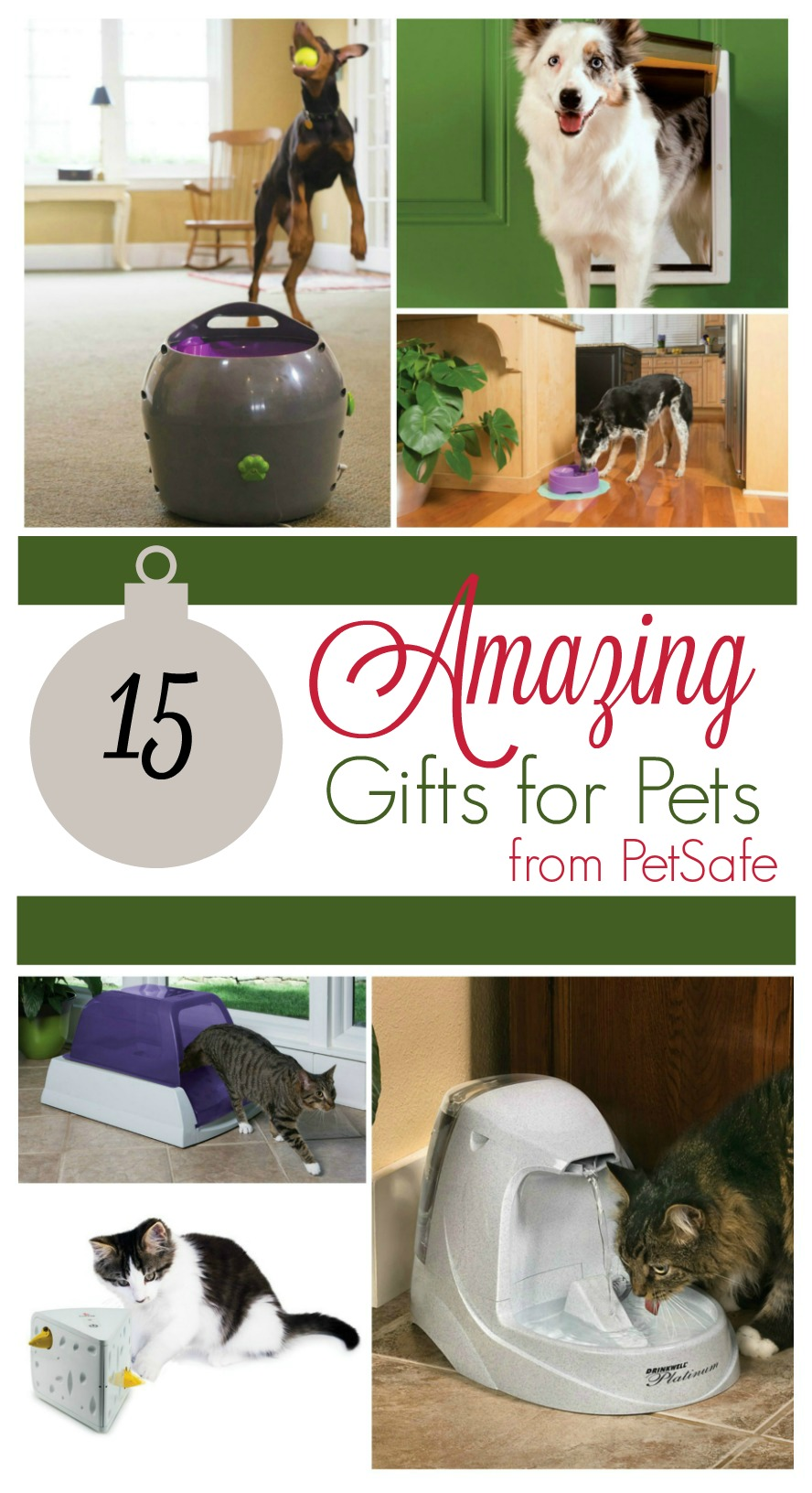Looking for the purrfect gifts for your dog or cat? Check out these 15 amazing gifts for pets from PetSafe here!