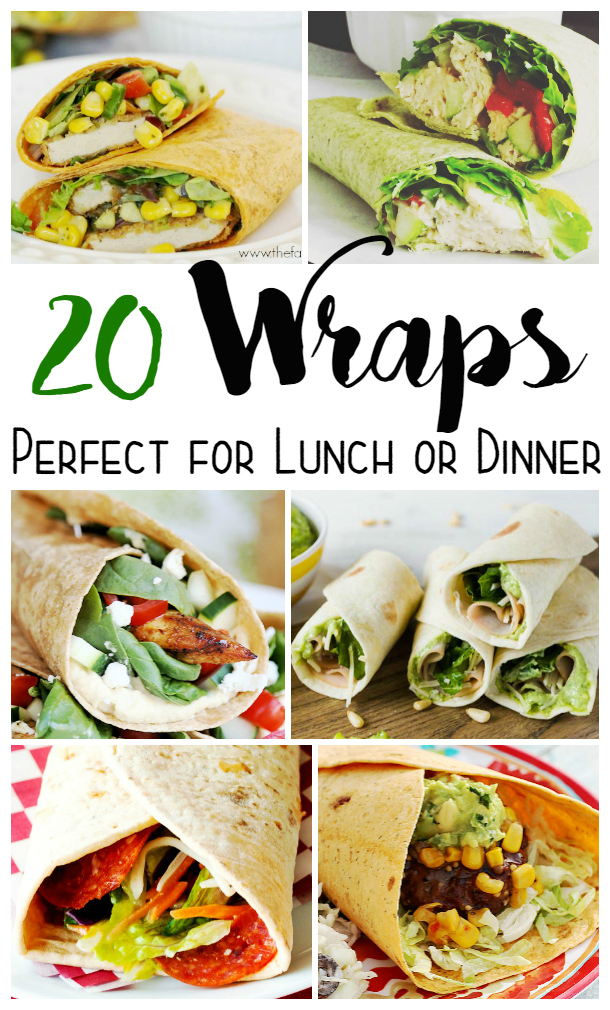 Looking for some yummy wrap recipes? check out these 20 wraps perfect for lunch or dinner here!