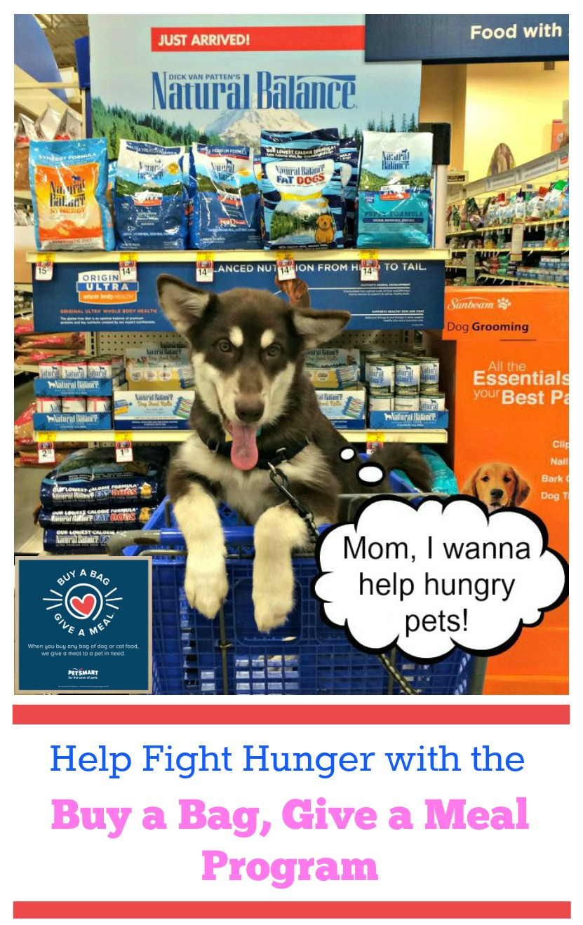 Do you want to help animals in need? Learn how you can help fight hunger with PetSmart's new Buy a Bag, Give a Meal Program here! #fortheloveofpets