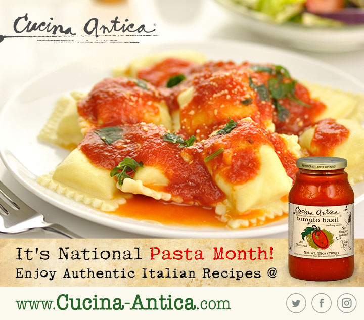 Enjoy National Pasta Month With Cucina Antica Budget Earth