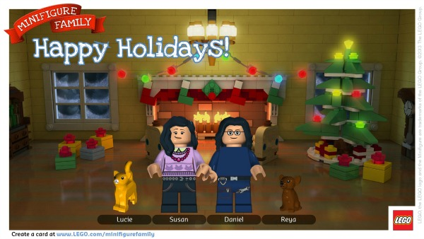 Christmas Cards Made Easy with the LEGO Minifigure Family