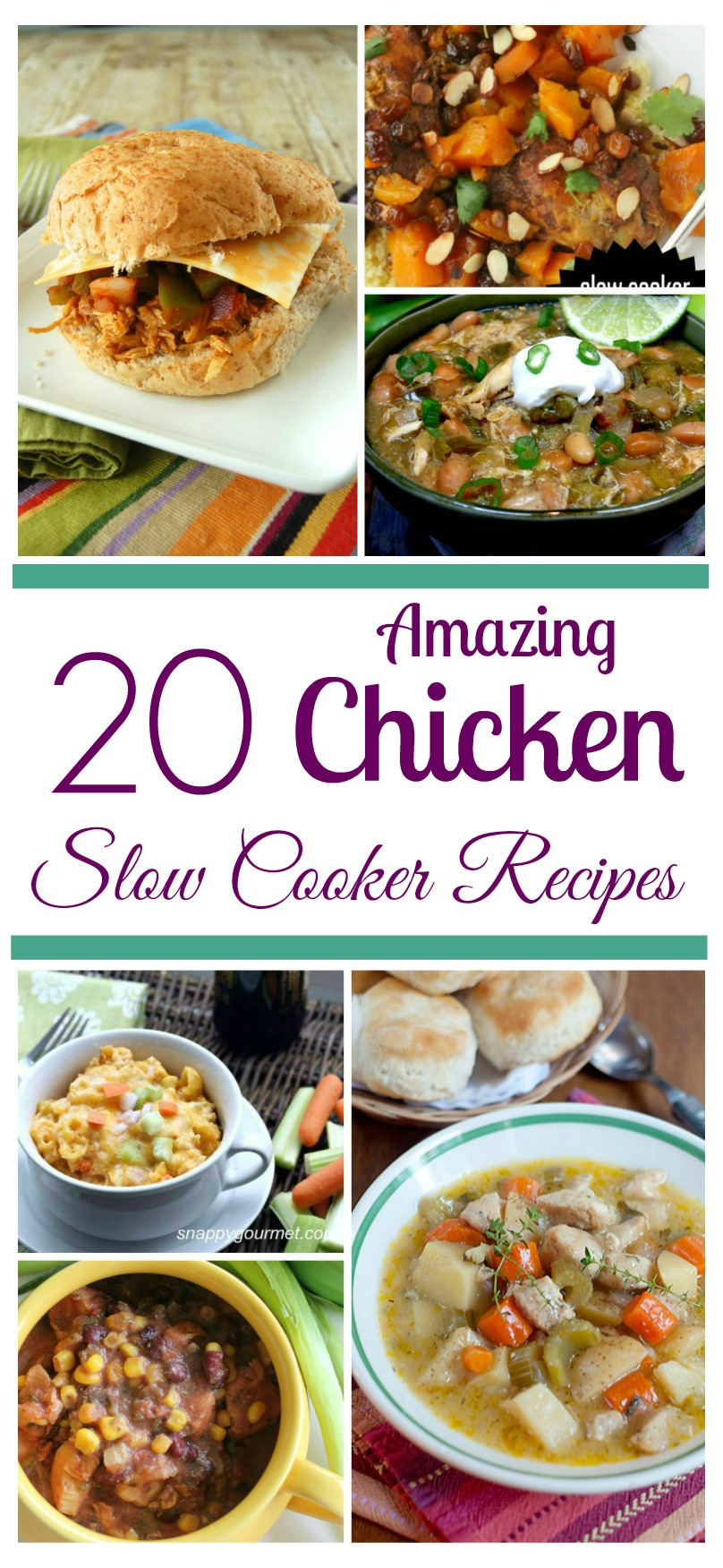 Looking for delicious chicken recipes for your slow cooker? Check out these 20 Amazing Chicken Slow Cooker Recipes that are perfect for any family!