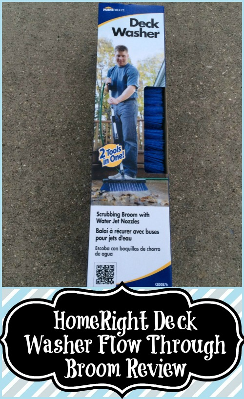 HomeRight Deck Washer Flow Through Broom Review