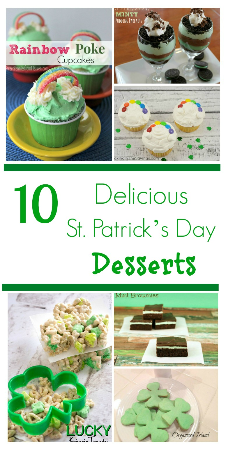 Looking for some yummy desserts for your St. Patrick's Day party? Check out our 10 Delicious St. Patrick's Day Desserts Round up here!