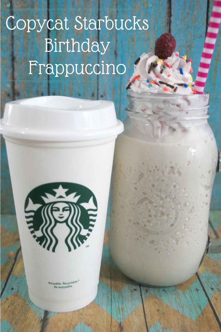 birthday cake frappuccino starbucks copycat starbucks birthday frappuccino recipe budget earth 1752