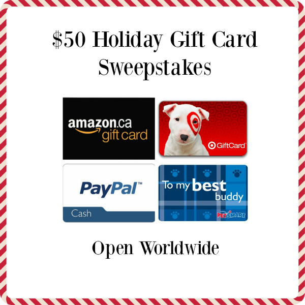 New Blogger Opp: $50 Holiday Gift Card Sweepstakes