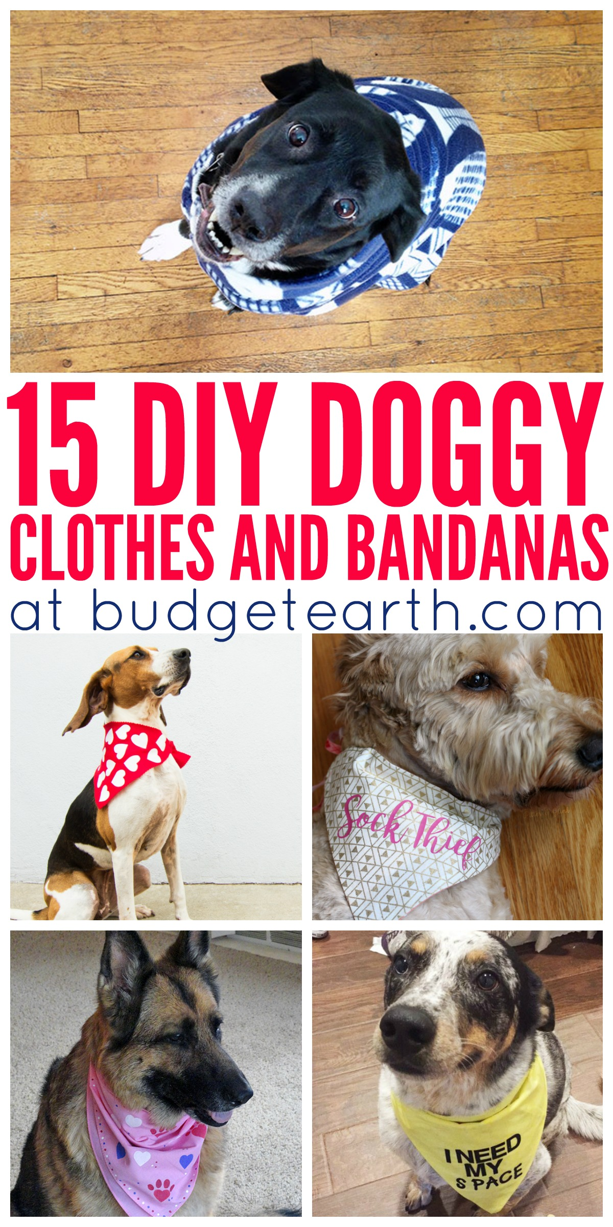 15 DIY Doggy Clothes & Bandanas
