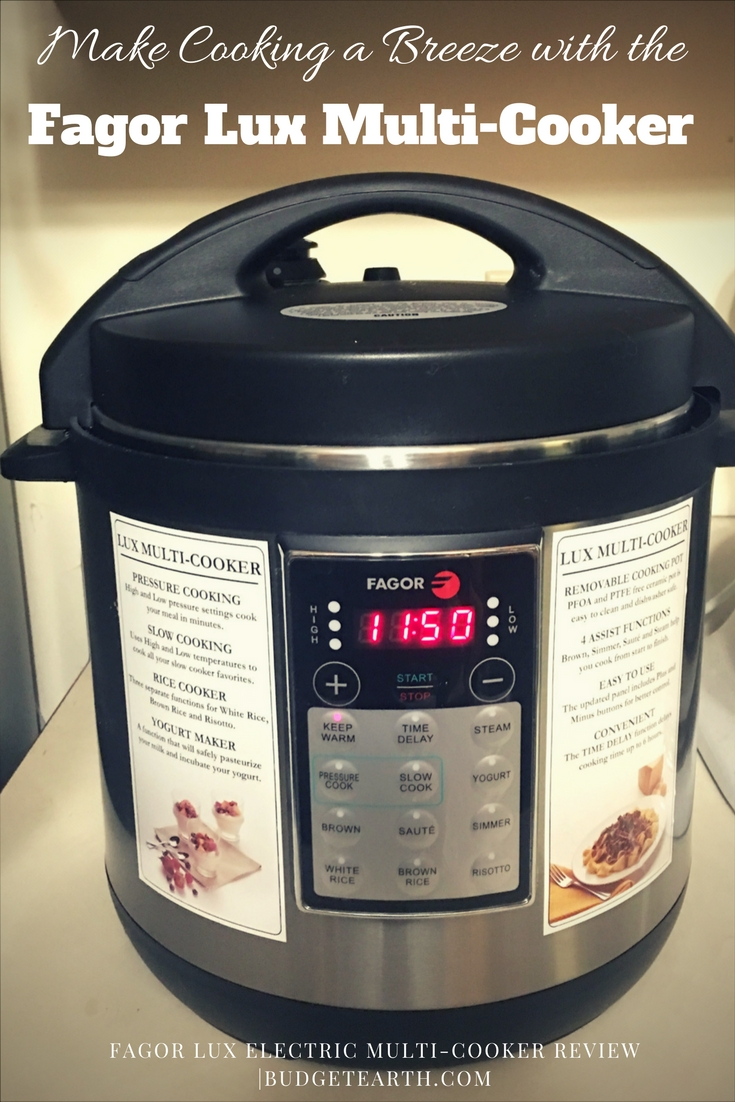 Looking for an amazing, easy to use pressure cooker to make cooking easier? See what we think of the Fagor LUX Electric Multi-Cooker here!