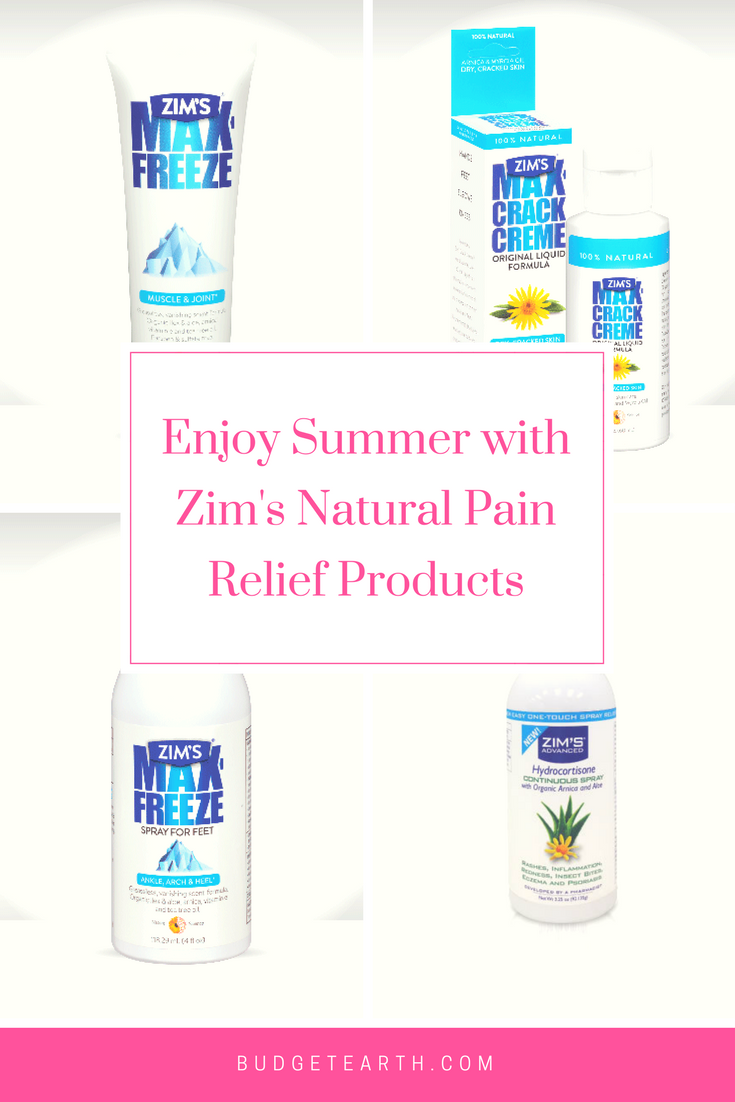 Enjoy Summer with Zim's Natural Pain Relief Products