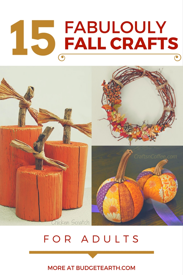 Looking for fun craft projects to get your home ready for autumn? Check out our list of 15 Fabulously Fall Crafts for Adults that easy & fun here!