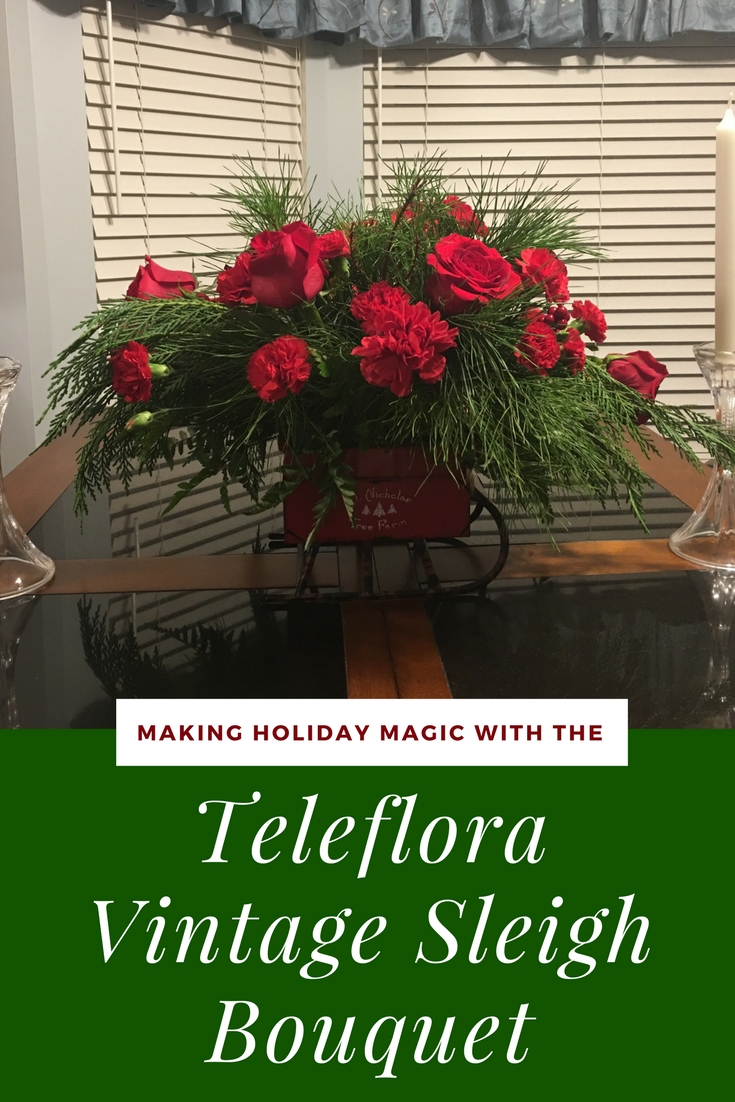 Looking for the perfect holidays centerpiece or arrangement? See what we think of the Make Holiday Magic with the Teleflora Vintage Sleigh Bouquet here!