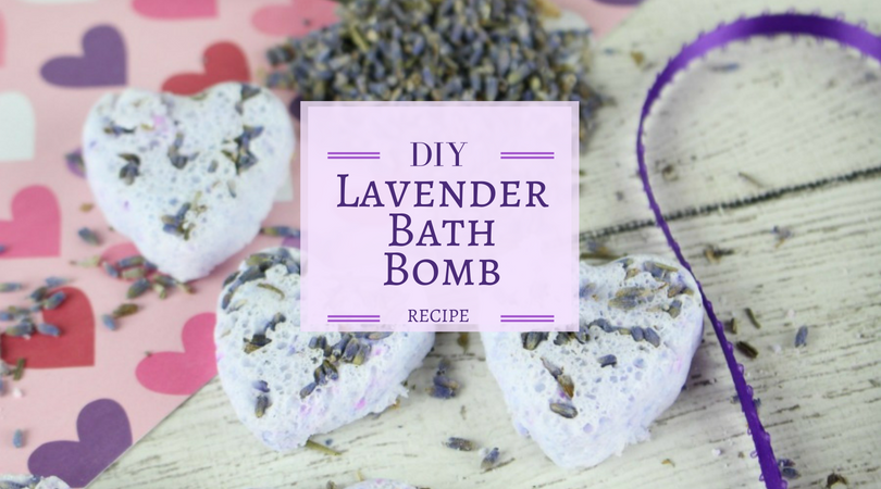 lavender heart shaped bath bombs