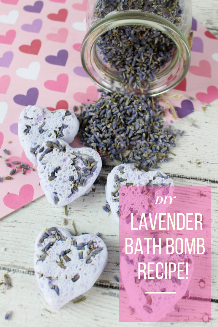 picture of lavender bath bombs with pure dried lavender buds