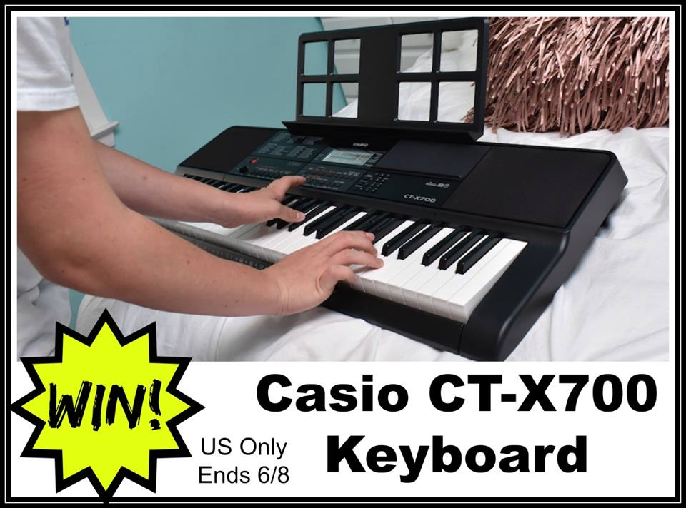 Have a budding musician on your hands? Enter to win a Casio CT-X700 Keyboard here!