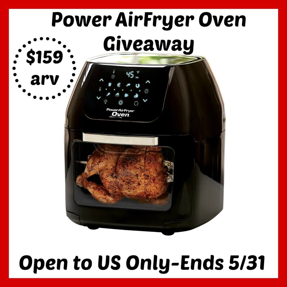 Are you interested in an easier, faster, and healthier way to cook all your mealtime favorites? Enter to win a Power AirFryer Oven here!