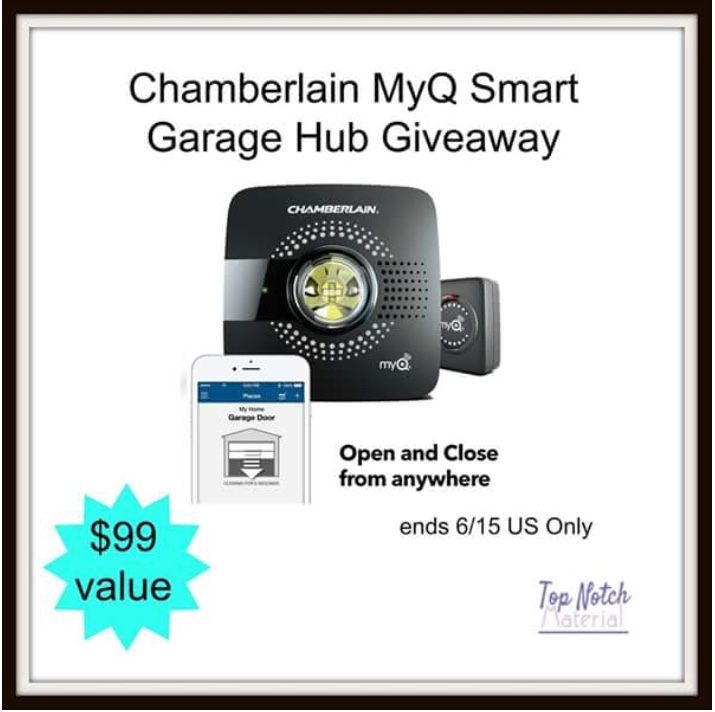 Would you like to have peace of mind over your garage wherever you are? Enter to win a Chamberlain MyQ Smart Hub here!