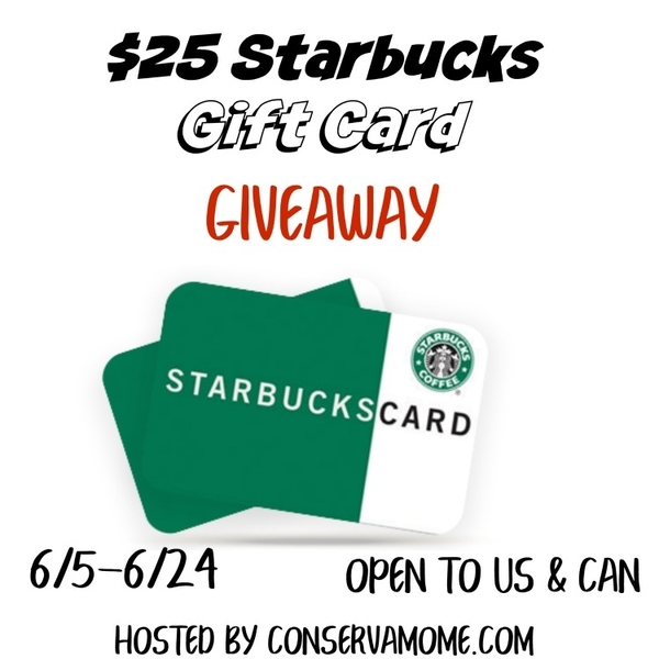 Are you a coffee lover? Perk up your day and enter to win a $25 Starbucks Gift Card here!