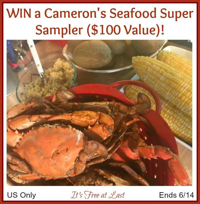 Do you love fresh seafood? Enter to win a Cameron's Seafood Super Sampler here!