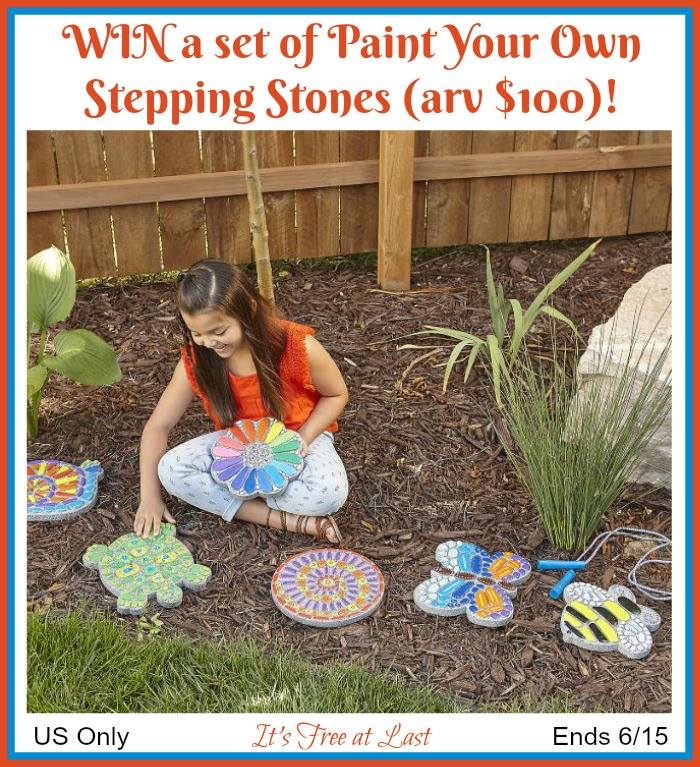 Do your kids love expressing their creativity through art? Enter to win a Paint Your Own Stepping Stones Set here!