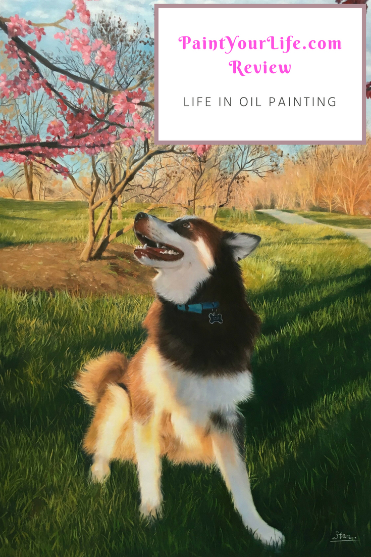 Alaskan Malamute Oil Painting from PaintYourLife.com