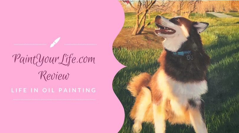 paintyourlife.com portrait with Alaskan Malamute Ivi