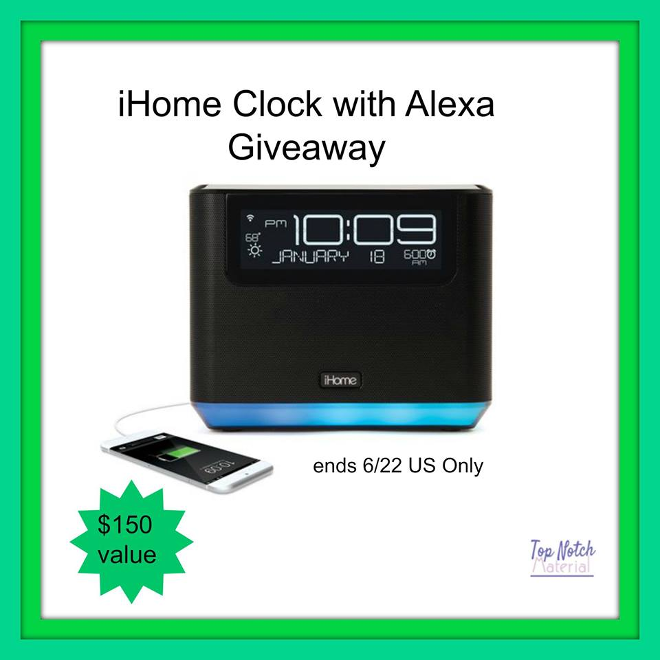 Do you wish you could control your smart home devices and even turn off the lights after you're tucked in for the night? Enter to win an iHome clock with Alexa here!