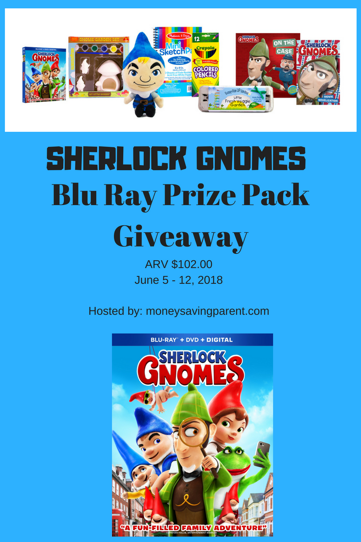 Does your family love watching films together? Enter to win a Sherlock Gnomes Blu-Ray Prize Pack here!