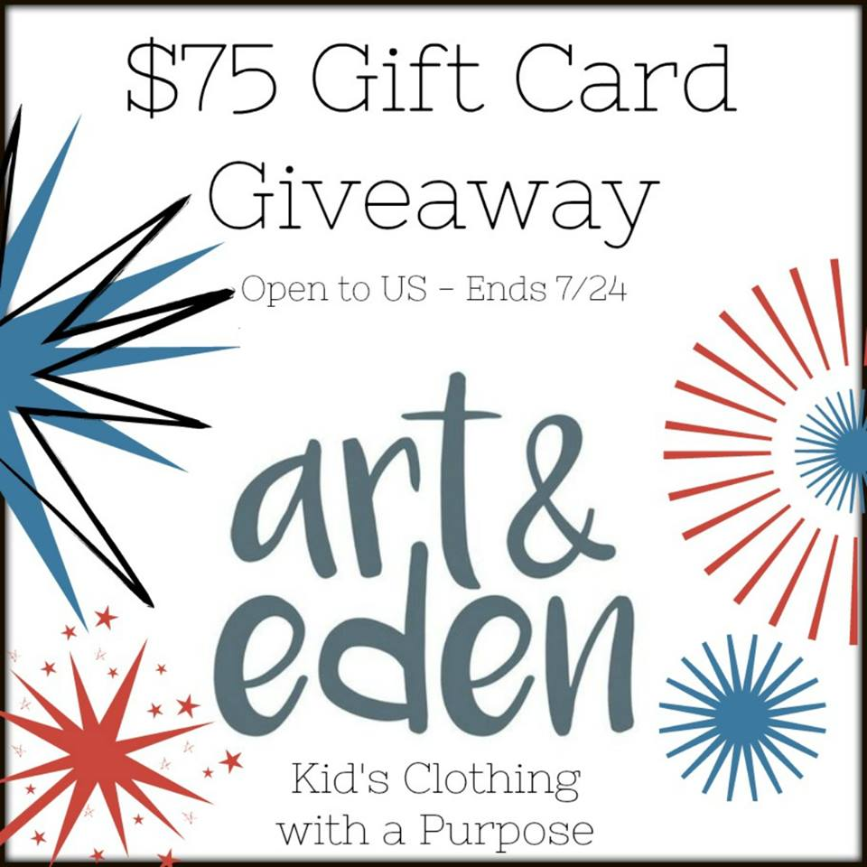 Do you love comfy, environmentally friendly clothing? Enter to win a $75 Art & Eden Gift Card for some cute children's clothes here!