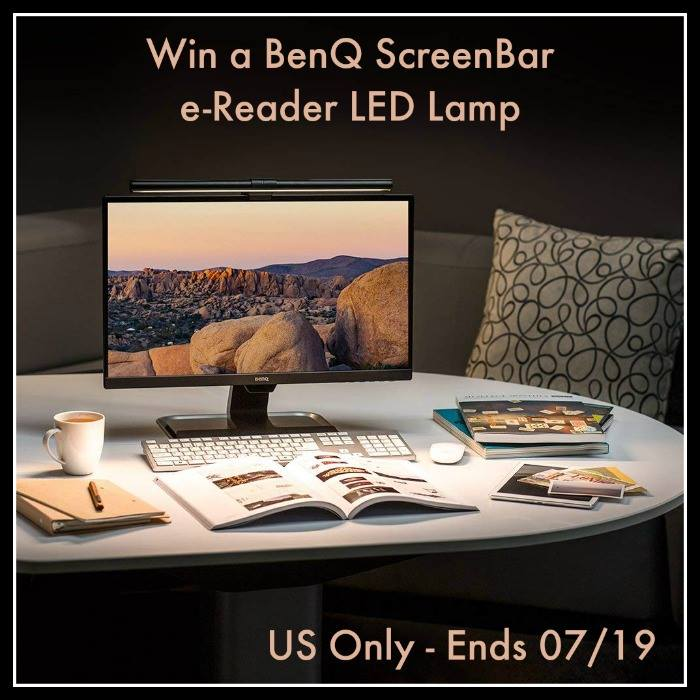 Does the glare off your computer screen tire your eyes out? Enter to win a BenQ ScreenBar e-Reading LED Task Lamp here!