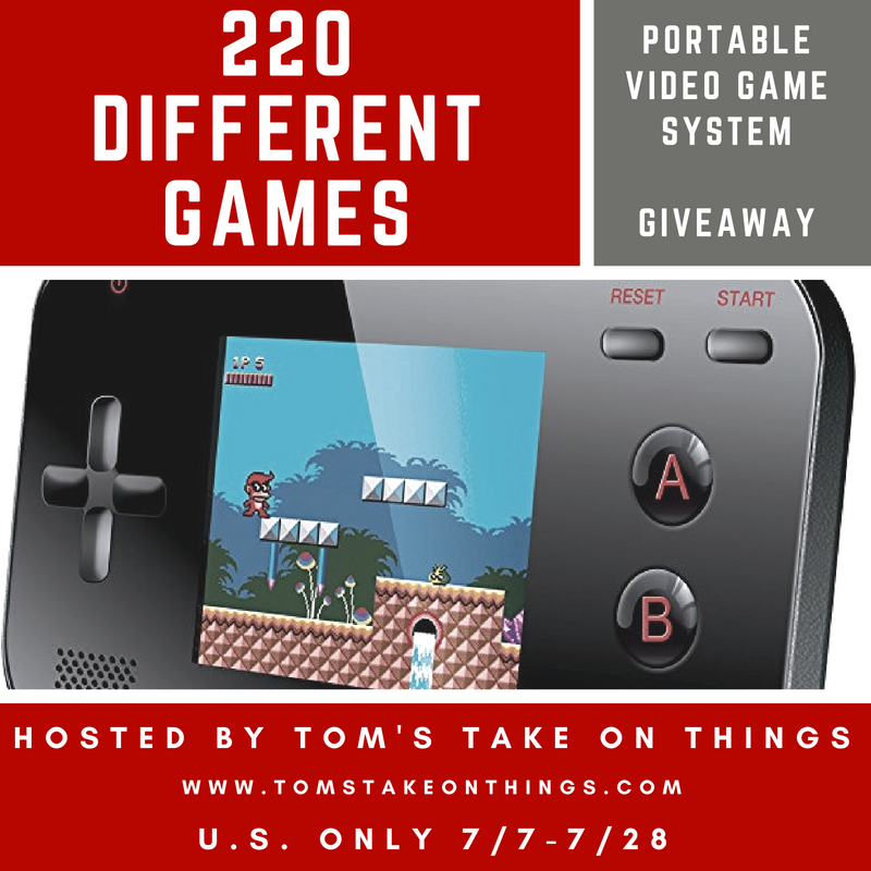 Are you a gaming fanatic Enter to win a Gamer V. Portable Handheld Gaming System with 220 Games here!