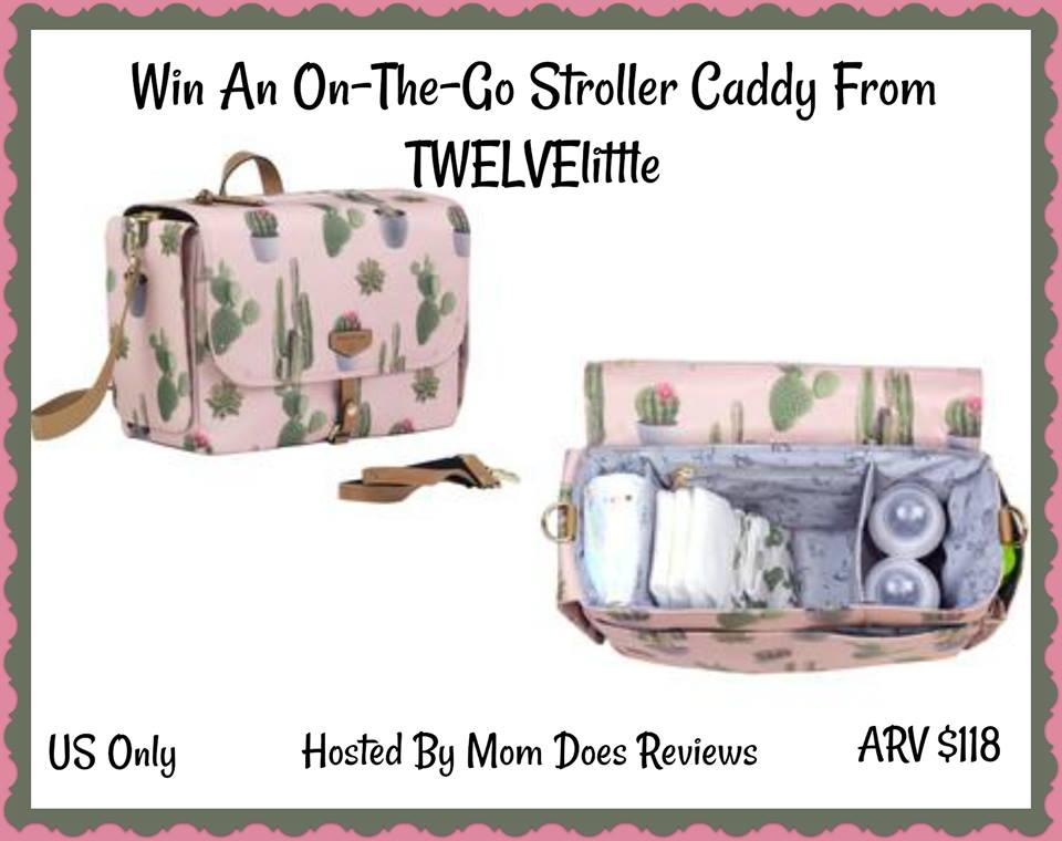 Do you feel like you're always packing a million things as a mom? Enter to win a TWELVElittle On-The-Go Stroller Caddy here!