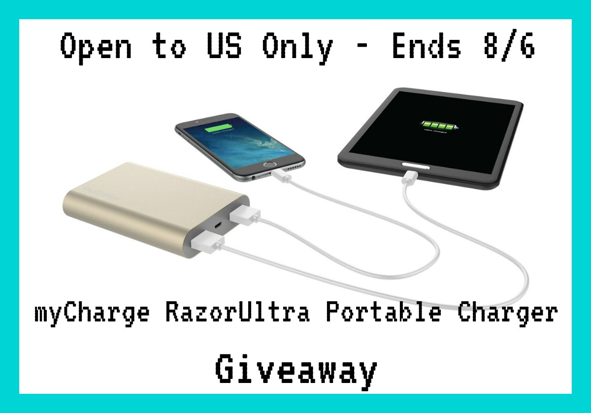 Need a boost to keep your electronics ultra charged? Enter to win a myCharge RazorUltra Portable Charger here!