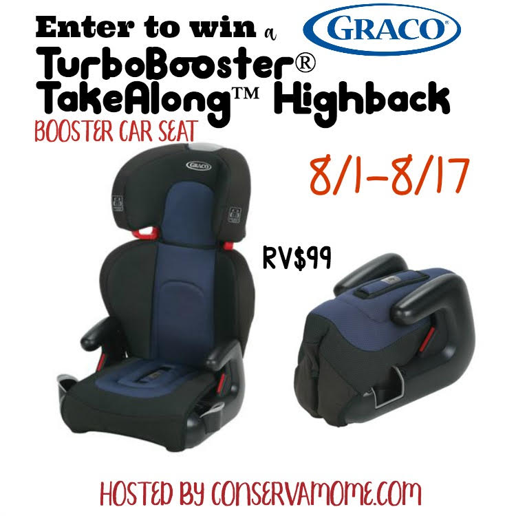 Do you worry about your child's safety in the car? Enter to win a Graco TurboBooster Takealong Highback Car Seat here!