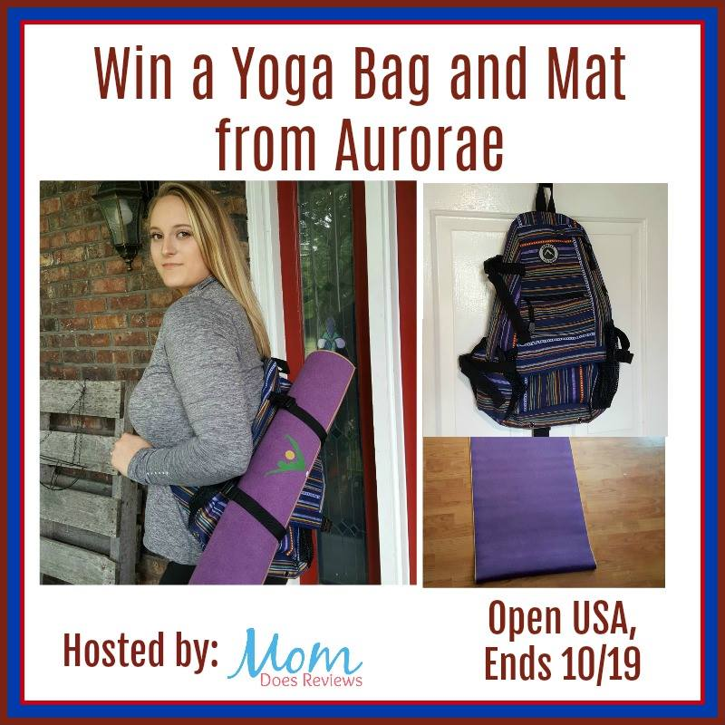 Are you an aspiring yogi or perhaps you've been at your practice a while? Regardless of your level, enter to win an Aurorae Yoga Bag & Mat here!