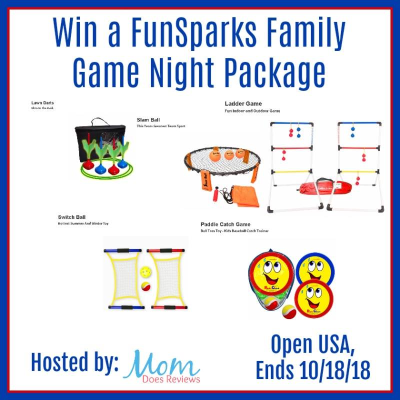 Do you love playing games together as a family? Enter to win a FunSparks Family Game Night Package here!