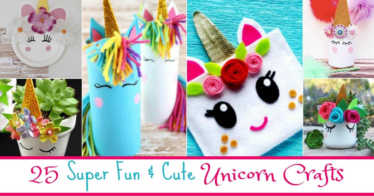 25 Super Fun Cute Unicorn Crafts Budget Earth
